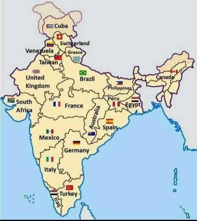 अमेरिका के NRI ने,भारतीय मैप को RE-DESIGN किया है
