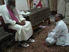 CM Mulayam singh at ashram