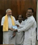 Prsenting Geeta to PM